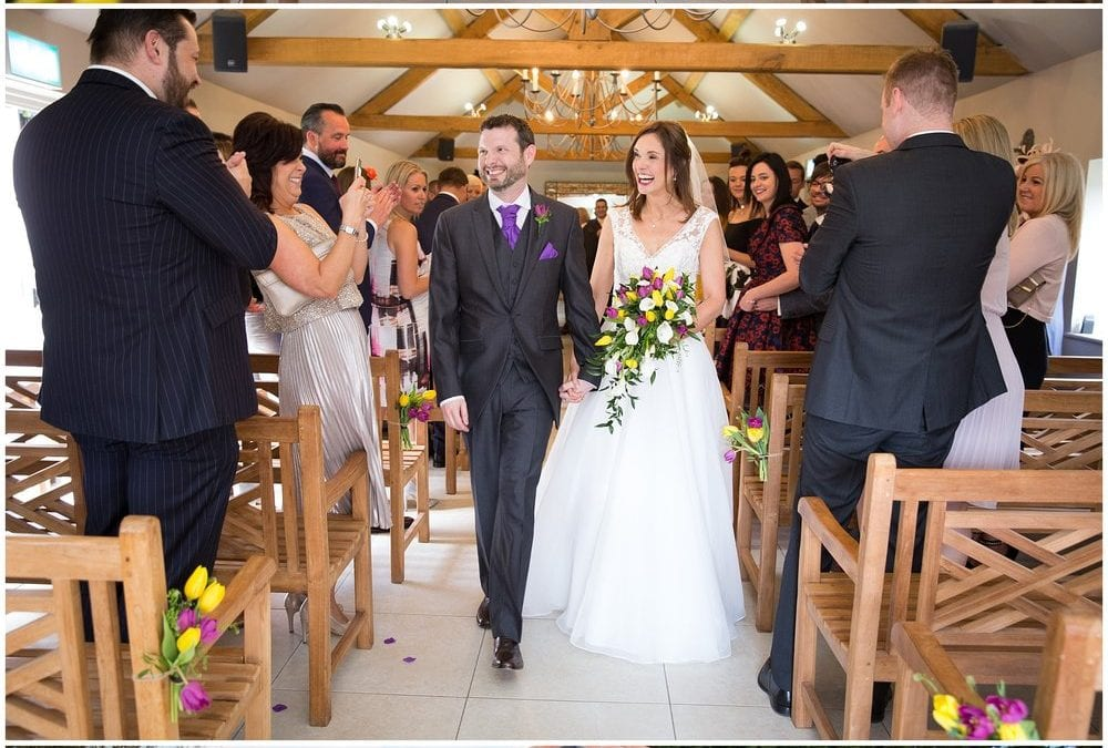 Dave and Carly's beautiful wedding day at Oaks Farm Barn