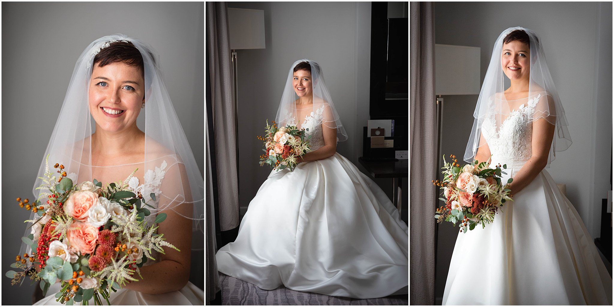 Bridal Portrait with bouquet Greenwich