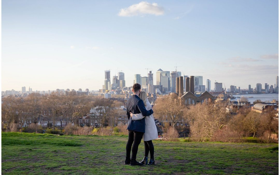 A surprise marriage proposal with a hidden photographer.
